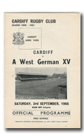 01/09/1956 : Cardiff v  German XV