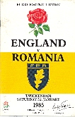 05/01/1985 : South and South West of England v Romania