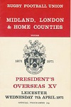 07/04/1971 : Midland London and Home coutnies v Presidents Overseas XV