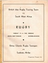 12/06/1962 : Lions v South West Africa