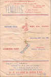 15/07/1950 : British Isles v  Combined (Waikato, Kings Country Thames Valley
