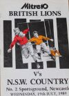 19/07/1989 : British Lions v NSW Country
