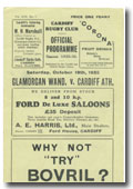 19/10/1935 : Glamorgan Wand. v Cardiff Athletic