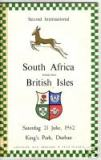 21/07/1962 : Lions v South Africa (2nd Test)