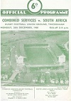 26/12/1960 : Combined Services v South Africa