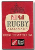 Pall Mall New Zealand Rugby Almanack 1959