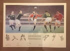 1997 British and Irish Lions hand signed framed print.